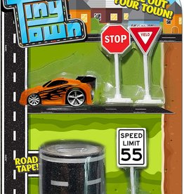 Toysmith Tiny Town Car & Road Set