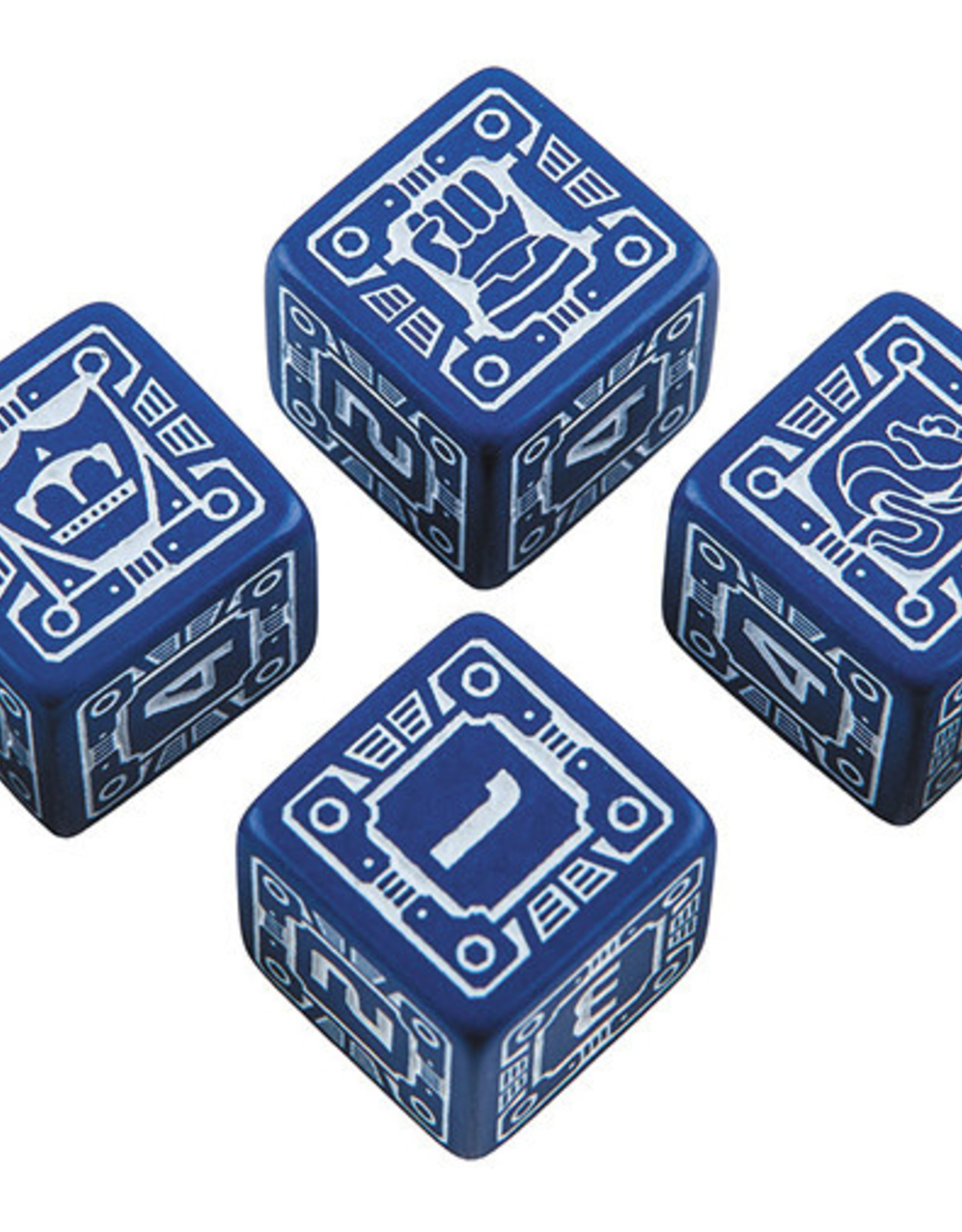 Q-Workshop Battletech House Steiner D6 Dice Set