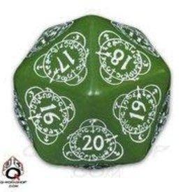 Q-Workshop Countdown D20 33mm Green