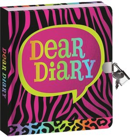 Peaceable Kingdom Animal Print Lock and key diary