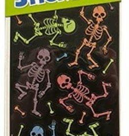 Peaceable Kingdom Dancing Skeletons Glow-in-the-Dark Stickers