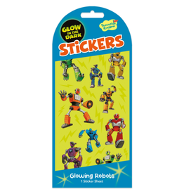 Peaceable Kingdom Glowing Robots Glow-in-the-Dark Stickers