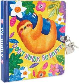 Peaceable Kingdom Happy Sloth Lock and key diary