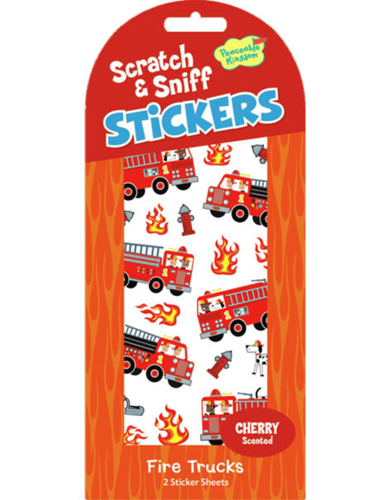 Peaceable Kingdom Cherry Fire Trucks Scratch and Sniff Stickers