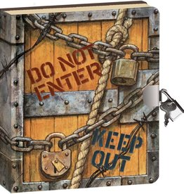 Peaceable Kingdom Keep Out! Lock and key diary
