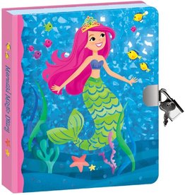 Peaceable Kingdom Mermaid Lock and key diary