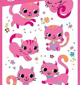 Peaceable Kingdom Pink Kitties Furry Stickers