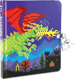 Peaceable Kingdom Pixel Dragon Diary lock and key diary