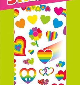 Peaceable Kingdom Rainbow Hearts Stickers