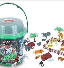 Wild Republic Adventure Bucket Set - Animals