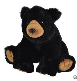 Wild Republic Black Bear Stuffed Animal - 12""