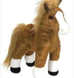 Wild Republic Brown Standing Horse Stuffed Animal - 12""