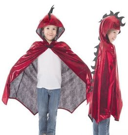 Little Adventures Dragon Cloak Red / Black