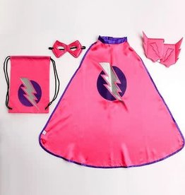 Little Adventures Drawstring Backpack Girl Hero Gift Set