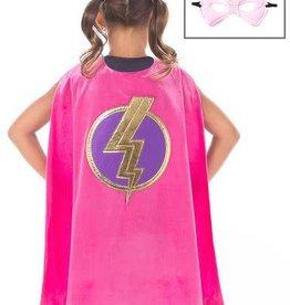 Little Adventures Pink Hero Cape & Mask Set