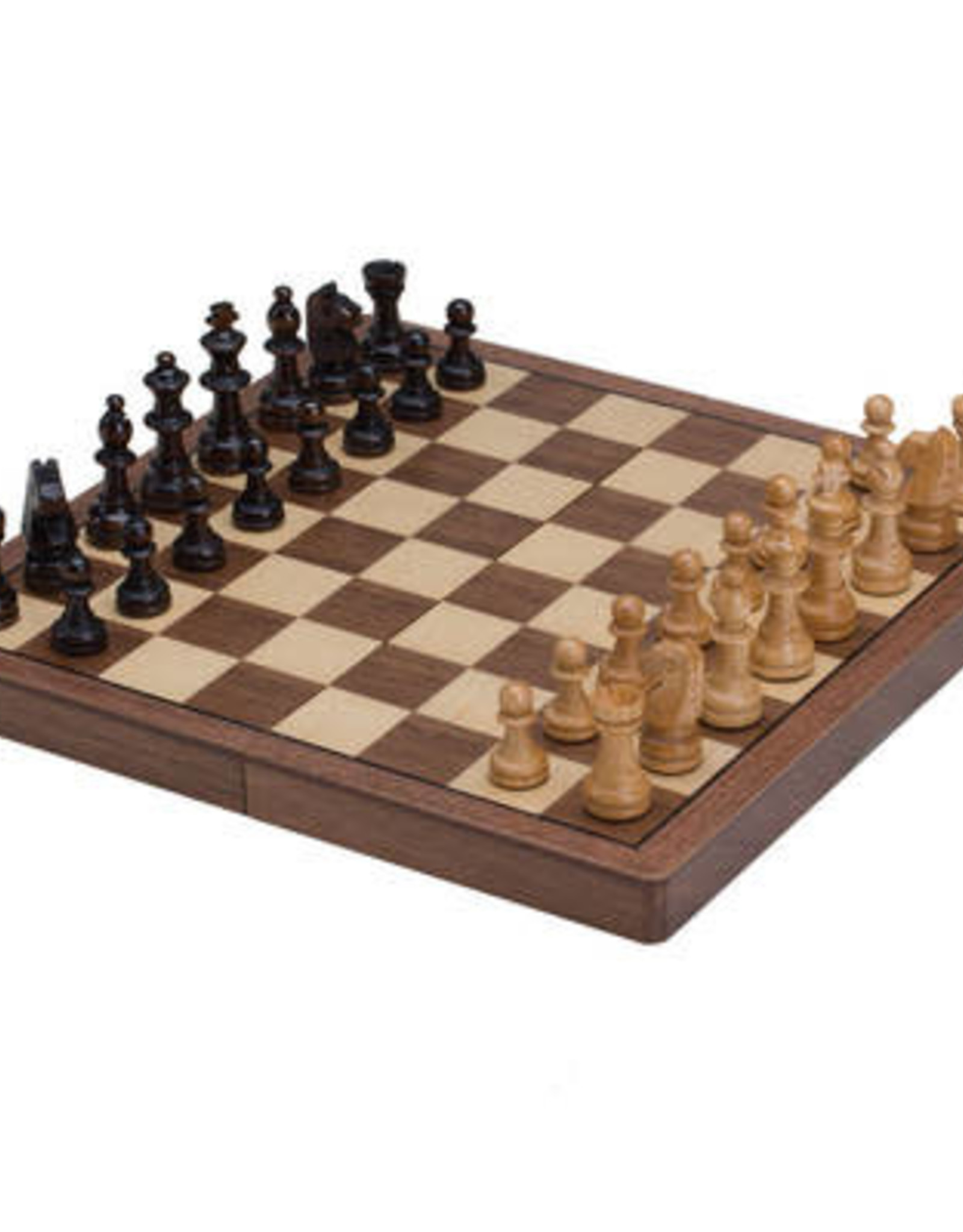 "CHH Games 11"" walnut magnetic folding chess set"