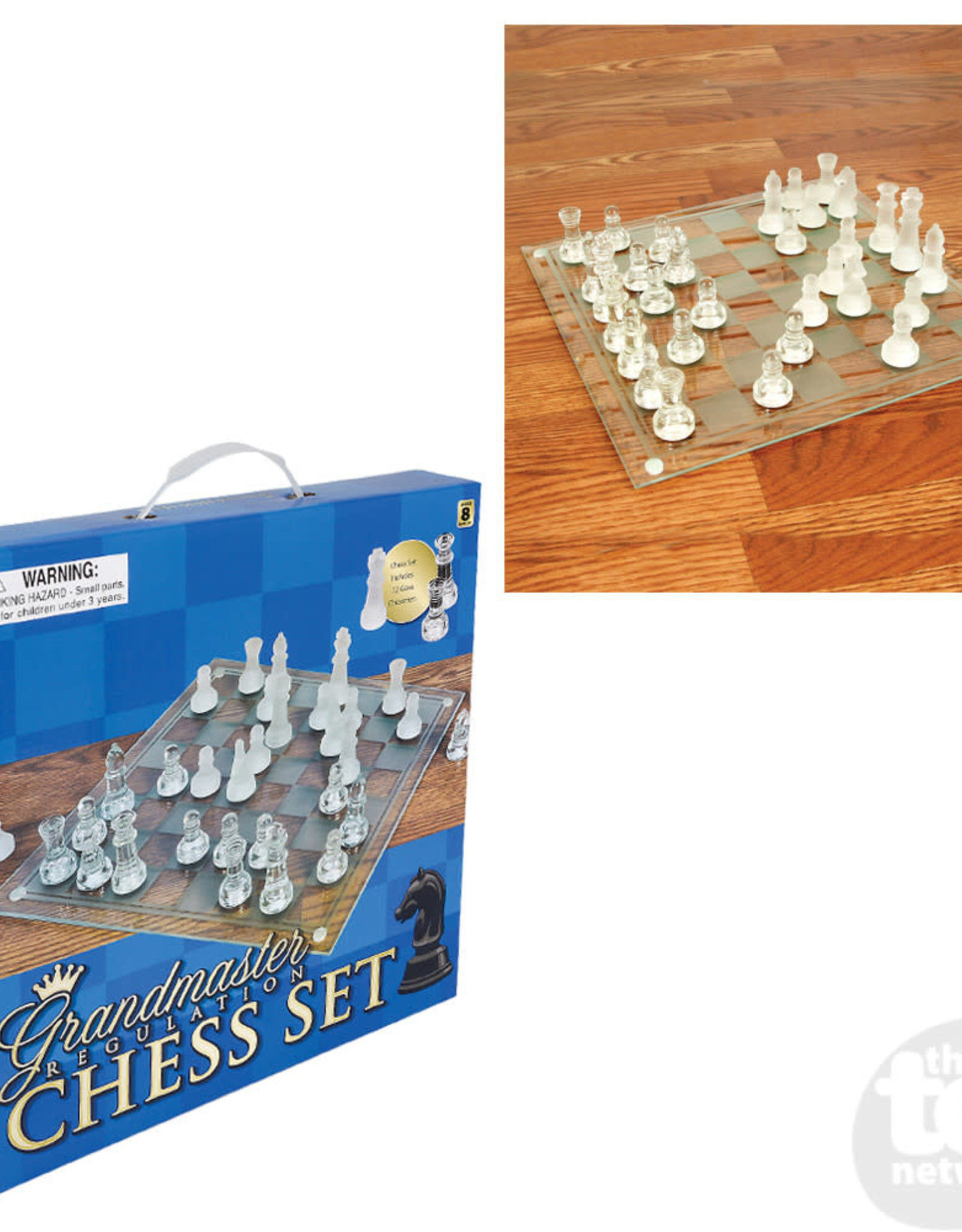 """The Toy Network 14"""" Glass Chess Set"""