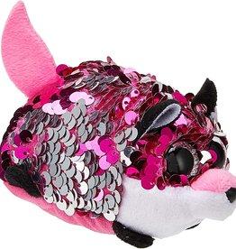 Ty Inc. Jewel Pink Fox Sequin Teeny Ty