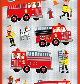 Peaceable Kingdom Firetrucks Foil Stickers