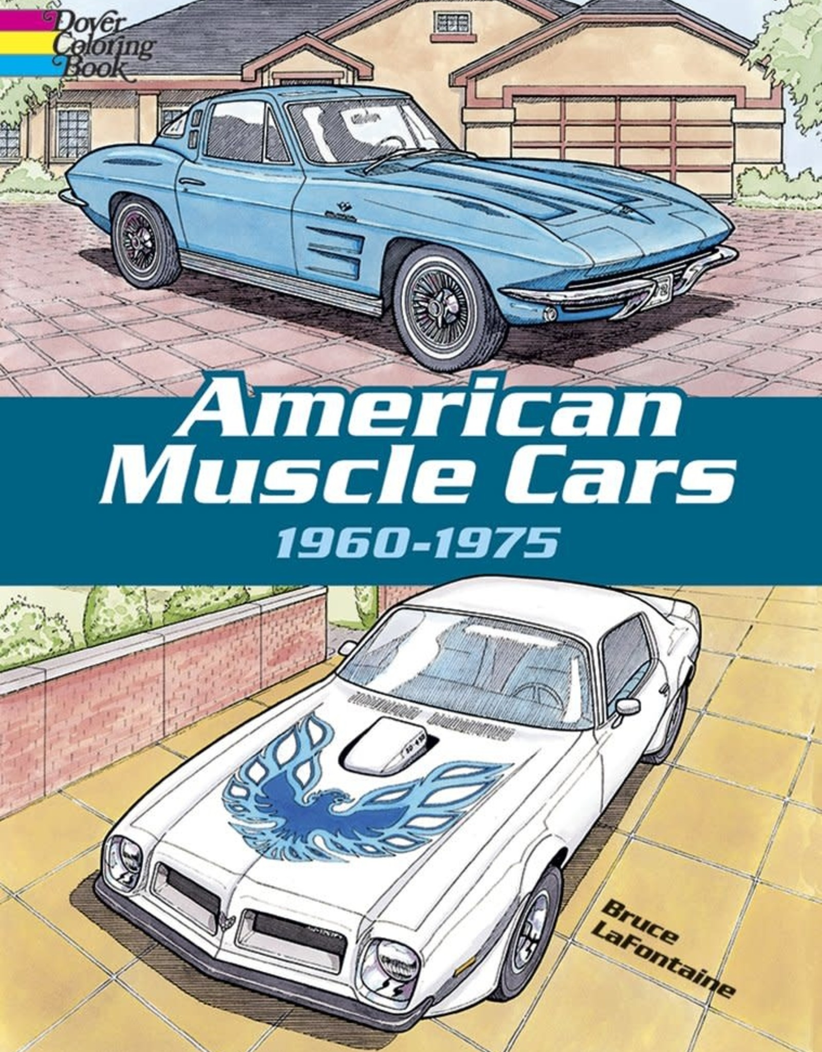 Dover Publications American Muscle Cars 1960-1975 Coloring Book