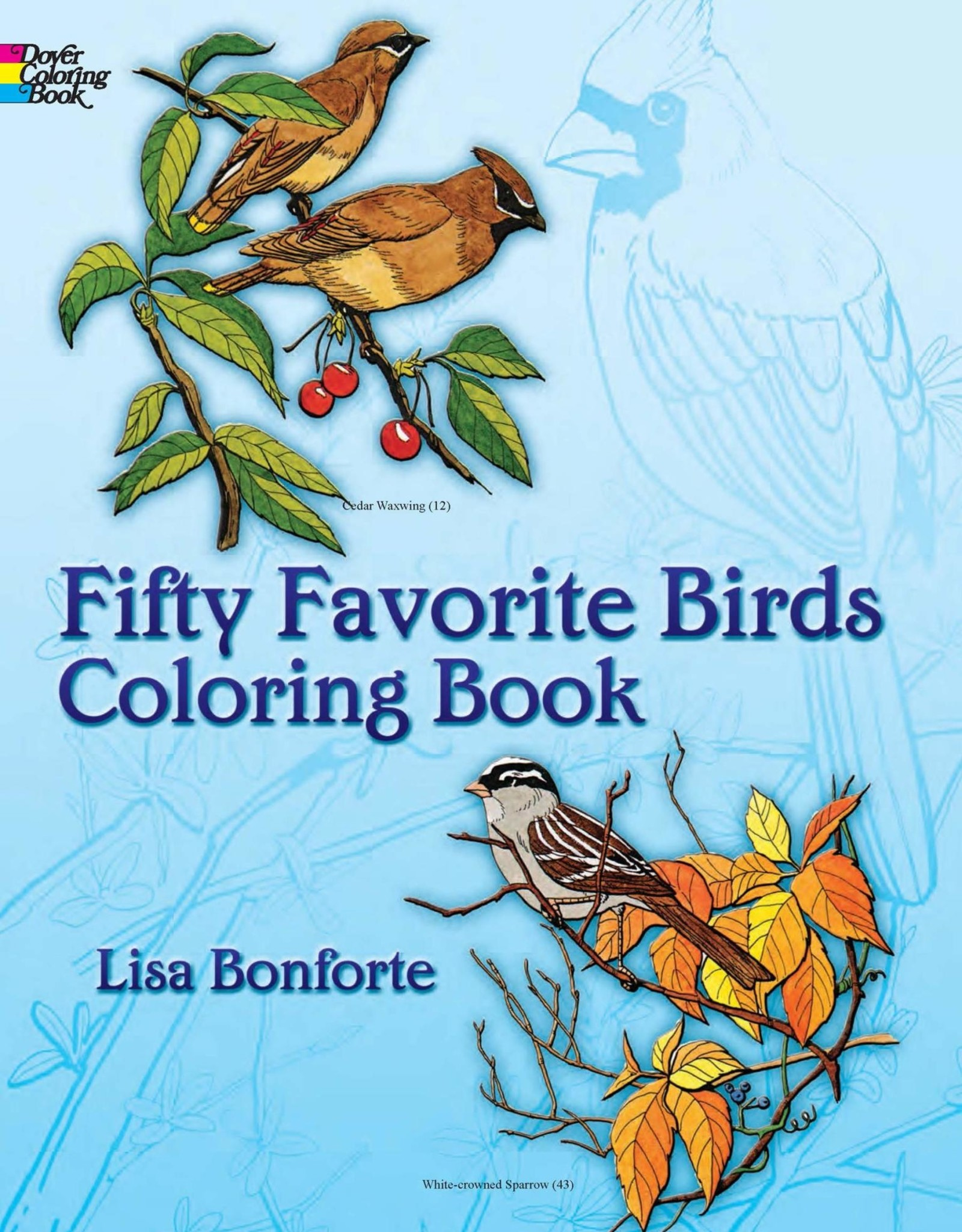 Dover Publications 50 Favorite Birds Coloring Books