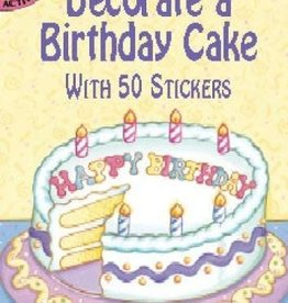 Dover Publications Decorate a Birthday Cake With 50 Stickers