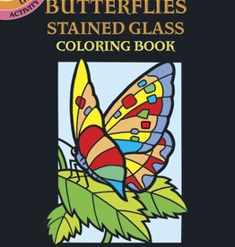 Dover Publications Little Butterflies Stained Glass Coloring Book