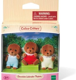 Calico Critters: Chocolate Labrador Triplets