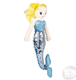 "The Toy Network 12"" Sequin Mermaid Blond Hair/Blue Tail"