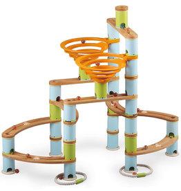 Fat Brain Toys Bamboo Builder Marble Run- 168pcs