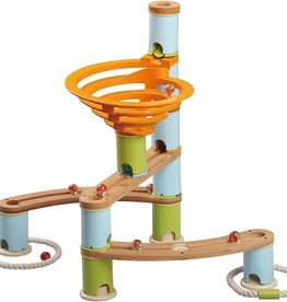 Fat Brain Toys Bamboo Builder Marble Run-78pcs