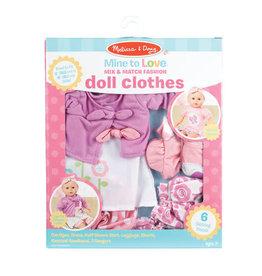 Melissa & Doug Mine to Love Mix & Match Fashion Doll Clothes