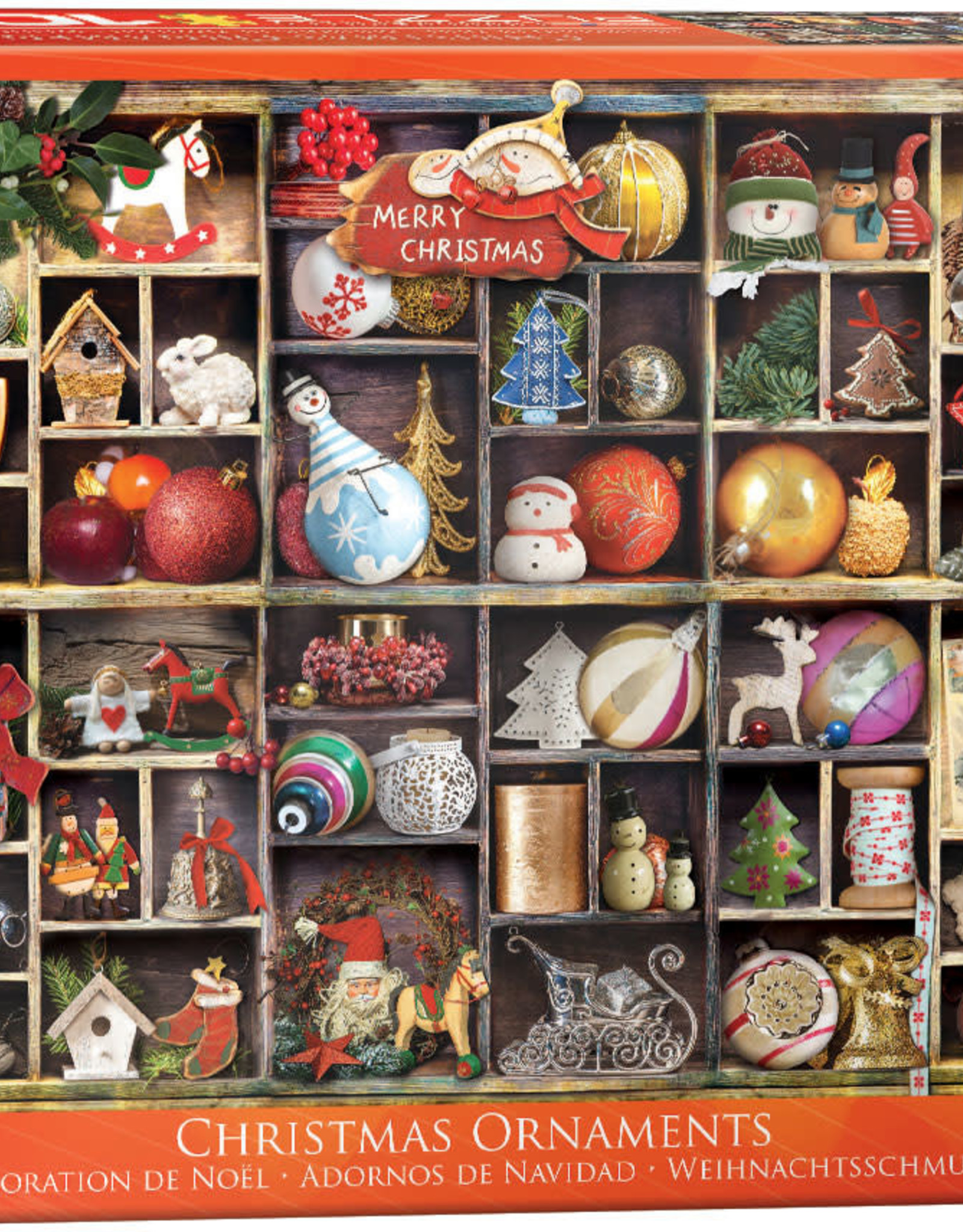 Eurographics Inc Christmas Ornaments 1000pc Puzzle