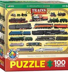 Eurographics Inc Trains 100pc Puzzle