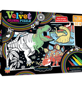 Master Pieces Dinos Velvet Coloring 60pc Puzzle