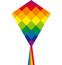 "HQ Kites & Designs Rainbow Patchwork 28"" Kite"