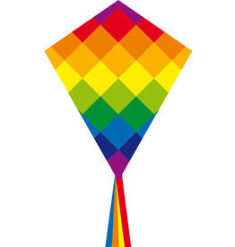 "HQ Kites & Designs RAINBOW PATCHWORK 70CM 28"" Kite"