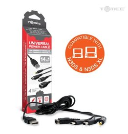 Tomee Universal Power Cable for New 2DS XL/ New 3DS/ New 3DS XL/ 2DS/ 3DS XL/ 3DS/ DSi XL&/ DSi/ DS Lite/ DS/ GBA SP/ PSP 3000/ PSP 2000/ PSP 1000