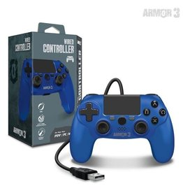 Armor 3 Wired Game Controller for PS4/ PC/ Mac (Blue)