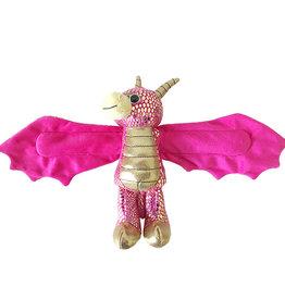 Wild Republic Huggers Golden Dragon Pink