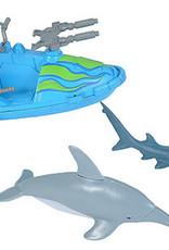 Wild Republic Adventure Playset Shark/Dolphin