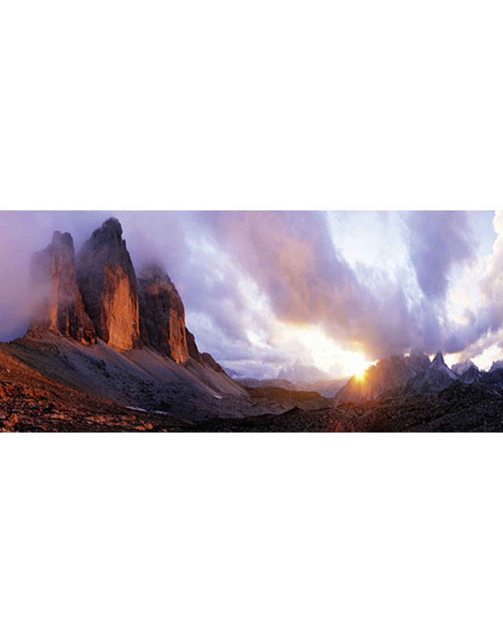 Heye 3 Peaks Panoramic 1000pc Puzzle