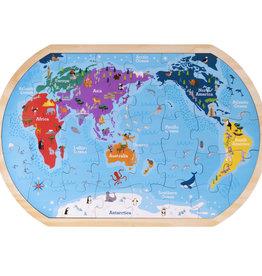 Imagination Generation Professor Poplar's Whole Wide World Puzzle Map 37pc