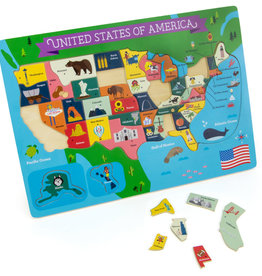 Imagination Generation Fifty Nifty USA States Wooden Jigsaw Puzzle