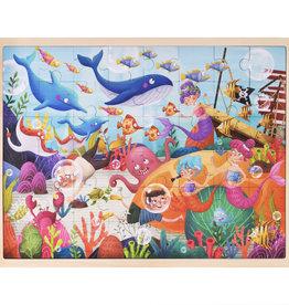Imagination Generation Deep Sea Diving Wooden Jigsaw 48pc Puzzle