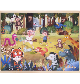 Imagination Generation Silly Safari Wooden Jigsaw 48pc Puzzle