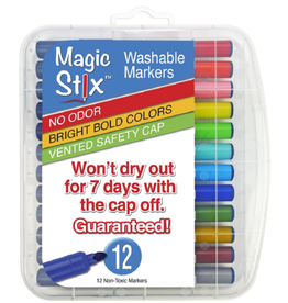 Magic Stix Magic Stix Marker 12 pack Triangular non roll
