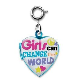 Charm It Girls Can Change the World Locket Charm