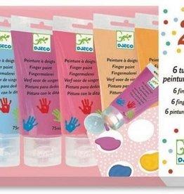 DJECO 6 Finger Paint Tubes (pink box)