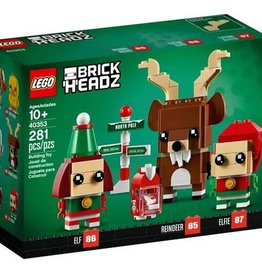 LEGO LEGO Reindeer, Elf, and Elfie Brickheadz